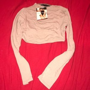 Naked wardrobe long sleeve crop